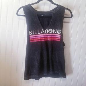 BILLABONG Women's graphic tank top in gray